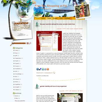 Free Tax Shopping at Fiji template blog from wordpress. travel blog template. template blog from wordpress. travel blog template