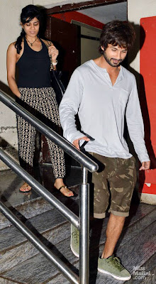 Shahid Kapoor is spotted out cinema hall with unknown girl in Mumbai