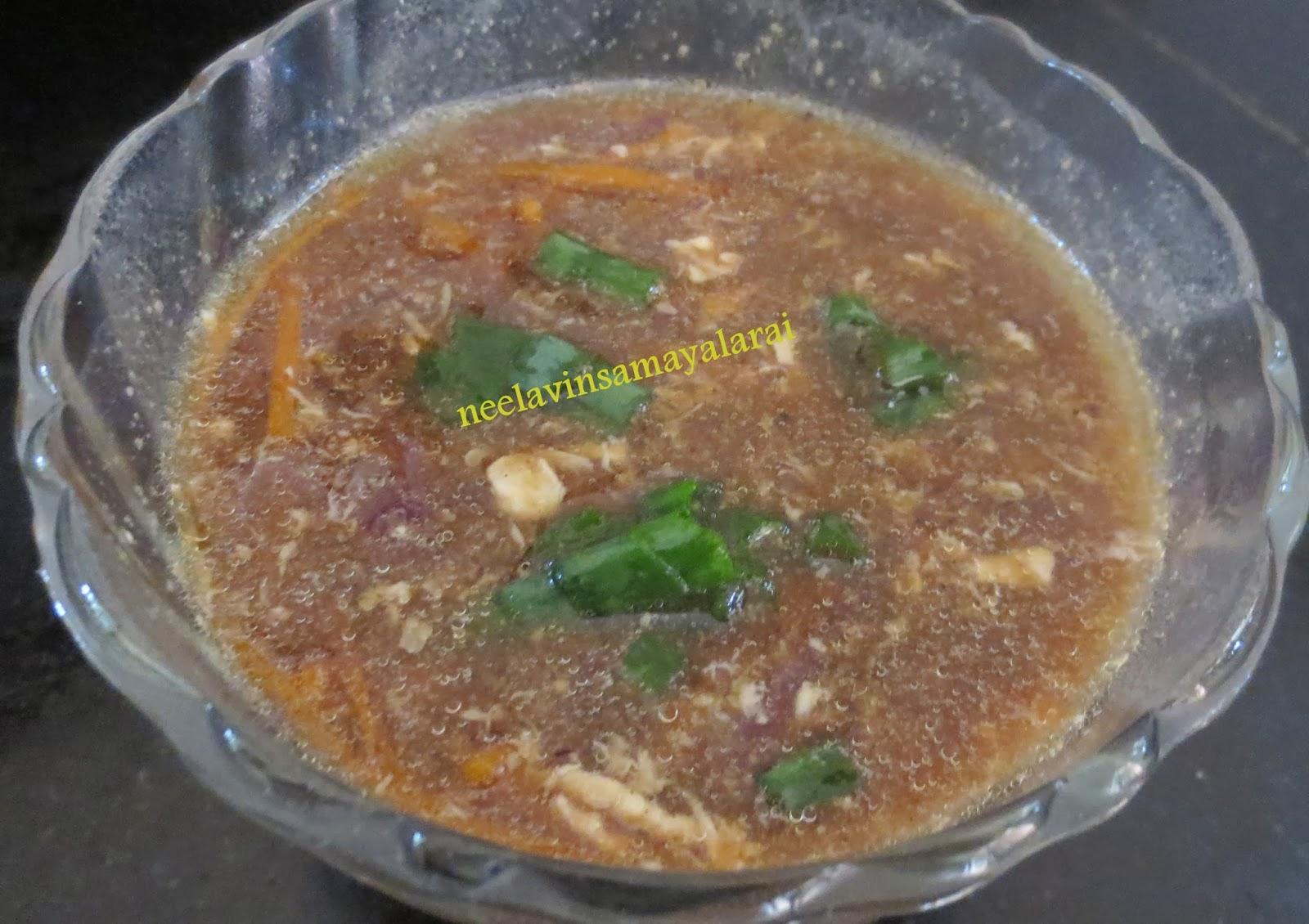 ஹாட் & சார் சிக்கன் சூப் (HOT AND SOUR CHICKEN SOUP tamil samayal