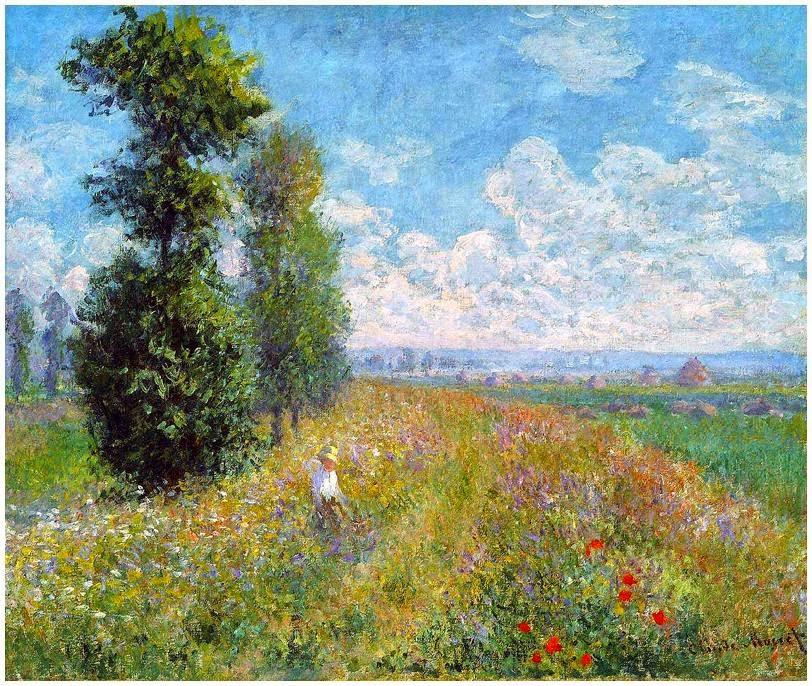 échos de mon grenier: Les coquelicots de Monet