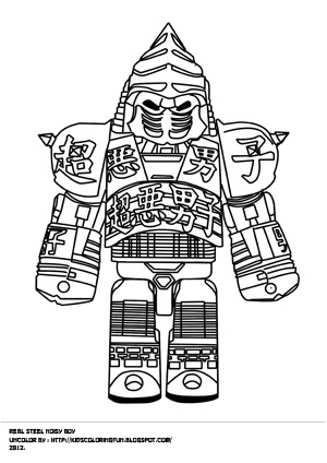 Real Steel Coloring Pages Noisy Boy | Bgcentrum