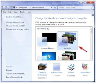 Cara menampilkan Themes Tersembunyi Windows 7