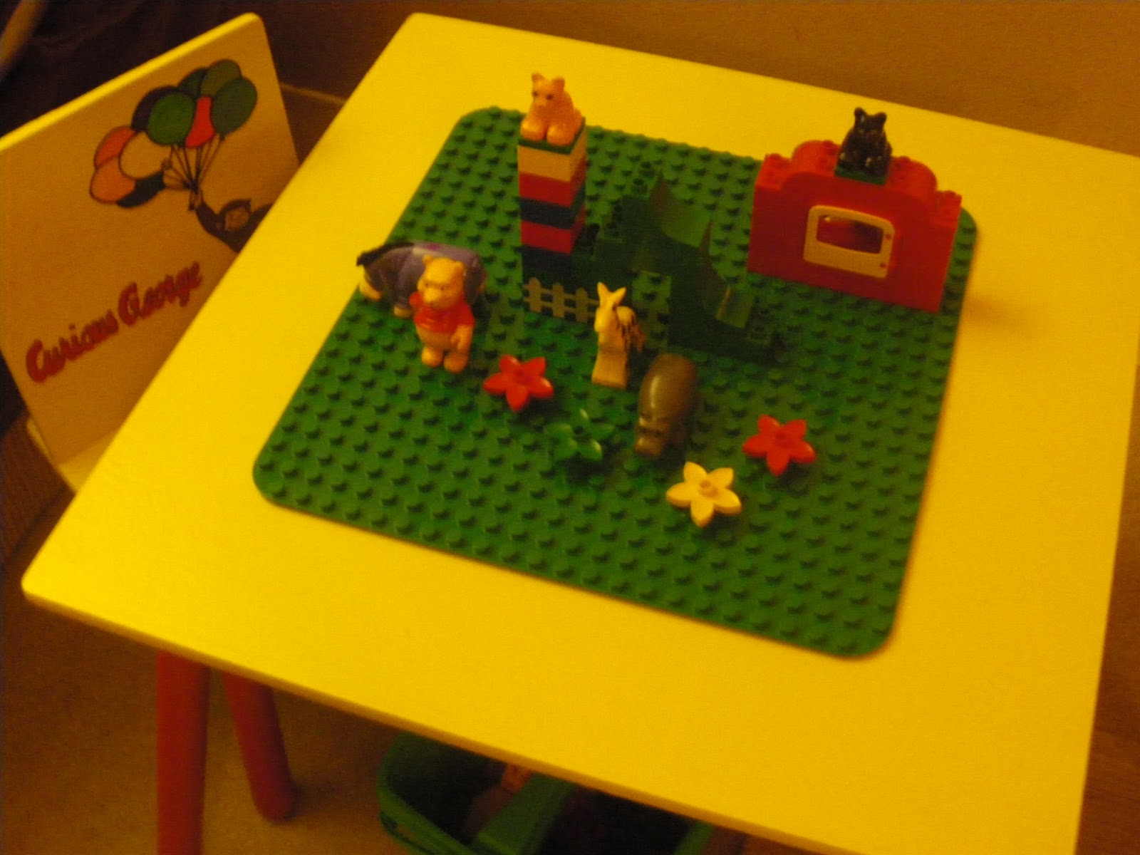Reduce, Reuse, Renewed: DIY Lego Table: Curious George Style