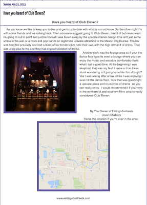 article review about club eleven in mason city
