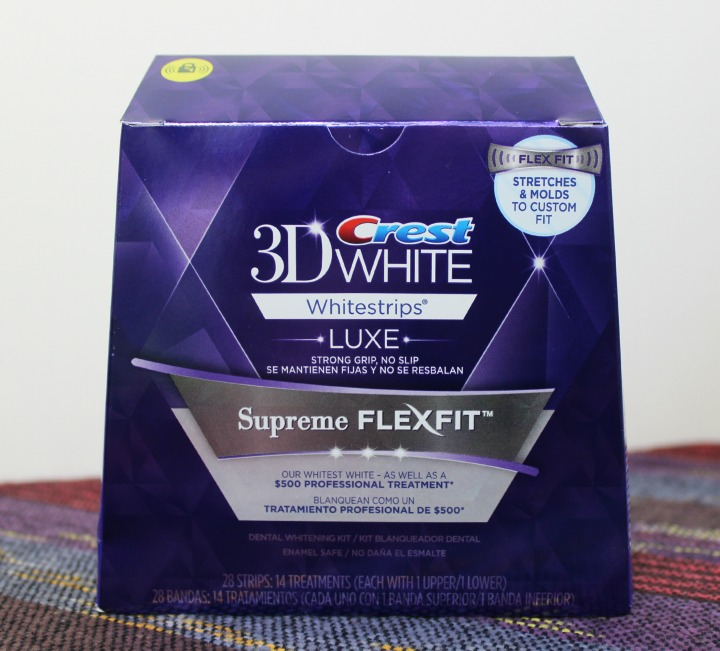 Crest 3D White Luxe Supreme FlexFit Whitestrips #CrestSupreme #CleverGirls box