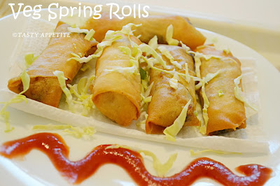 VEGETABLE SPRING ROLLS / HOW TO MAKE CRISPY VEGETABLE SPRING ROLLS ...