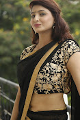 Sagarika glamorous photos in saree-thumbnail-20