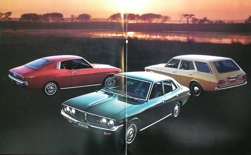 Toyota Corona Mark II, X10, X20, coupe, sedan, kombi, gama modeli, lata 70, japońska motoryzacja