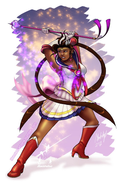 african american, black, sailor moon, racebent, art, drawing, illustration, artwork