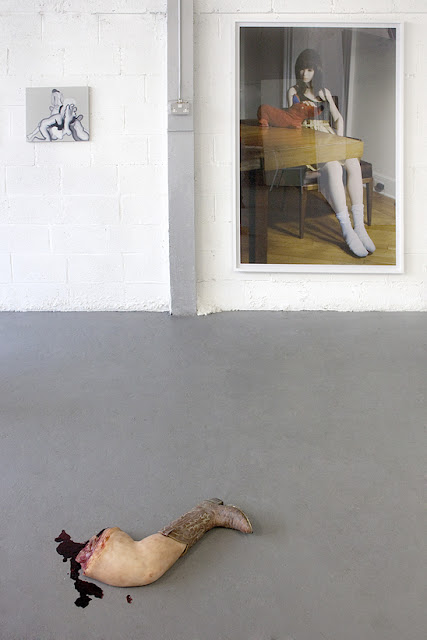 Konrad Wyrebek (painting) , John Issacs (sculpture), Laurie Simmons (print, courtesy of Wilkinson Gallery)