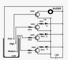 Chirag agarwalblog water level indicator assemble the parts given in the circuit diagram ccuart Gallery