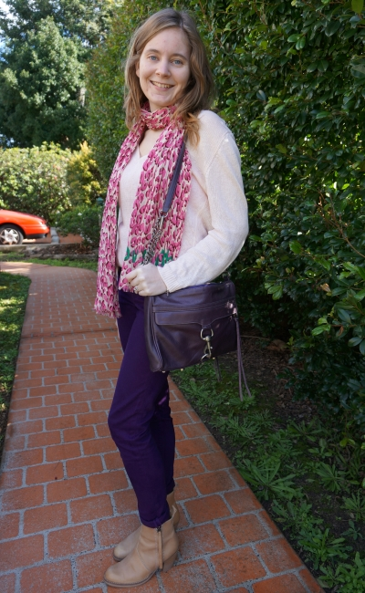 Away From Blue Weekend Outfit Pink and Purple worn together