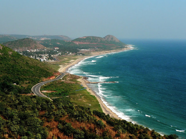 Port city of Vishakhapatnam
