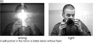 Совет 60. Когда делаете свой портрет в зеркале - не пользуйтесь вспышкой, ее блики в зеркале будут хорошо видны.