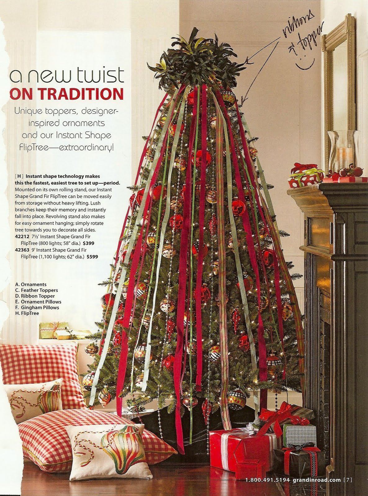 Vertical Ribbons Christmas Tree