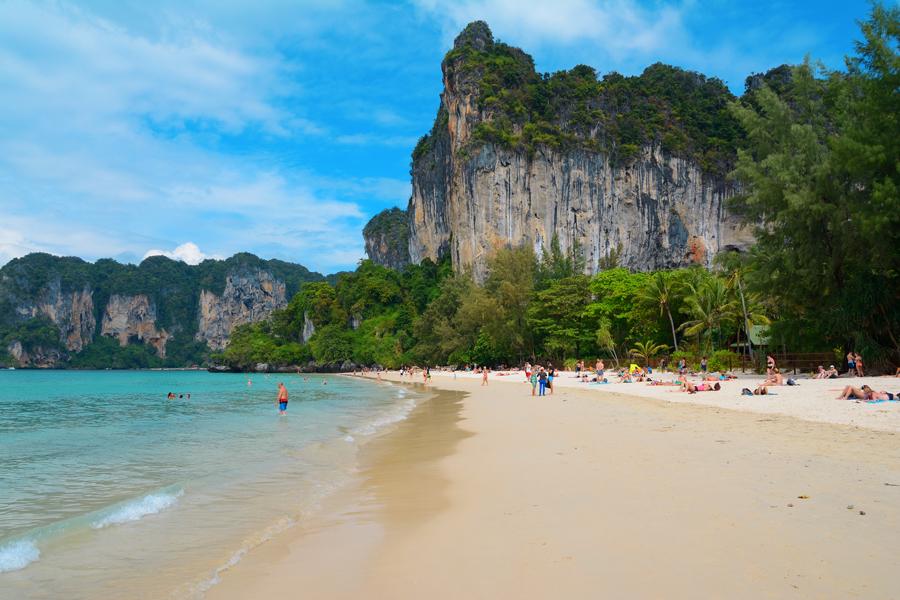 plaża railay, tajlandia