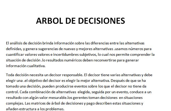 Investigaci n de operaciones ii arbol de decisiones for Investigacion de arboles