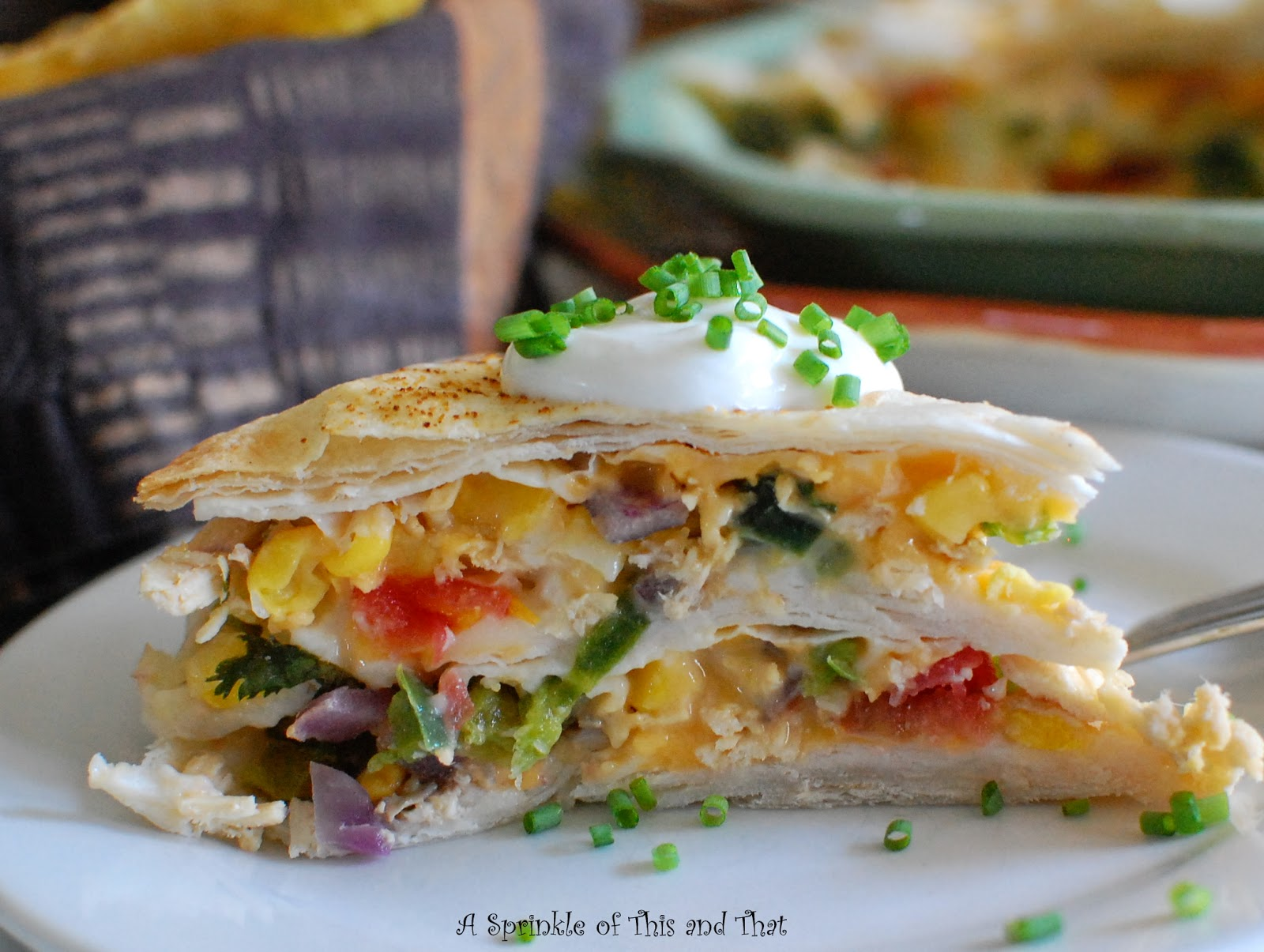 Sprinkle of This and That: Quesadilla Pie