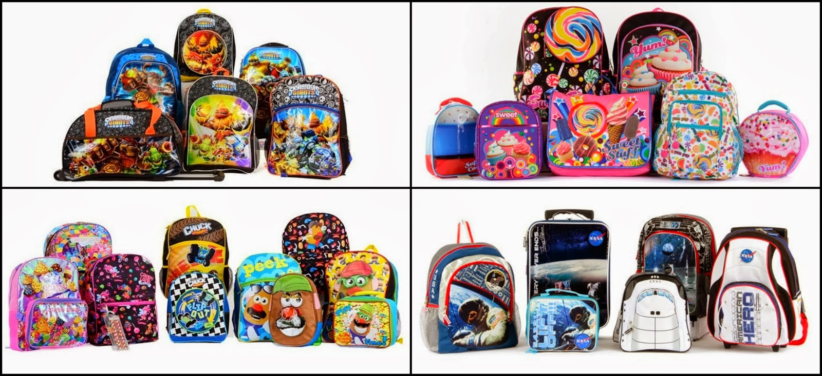 How cute are these? M big man would flip over those NASA backpacks ...