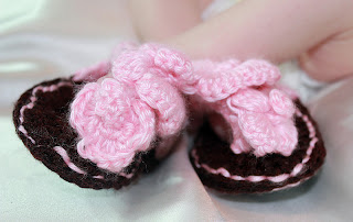 Introducing Tiffanys Crochet Creations: Orchid Baby Sandals
