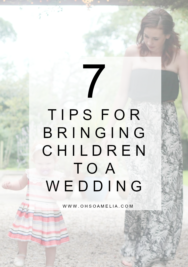 7 Tips For Bringing Children To A Wedding