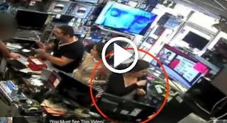 قامت بسرقة جهاز أيباد من المحل بخفة يد  ولكن شاهد ماذا فعل هذا البائع الذكي