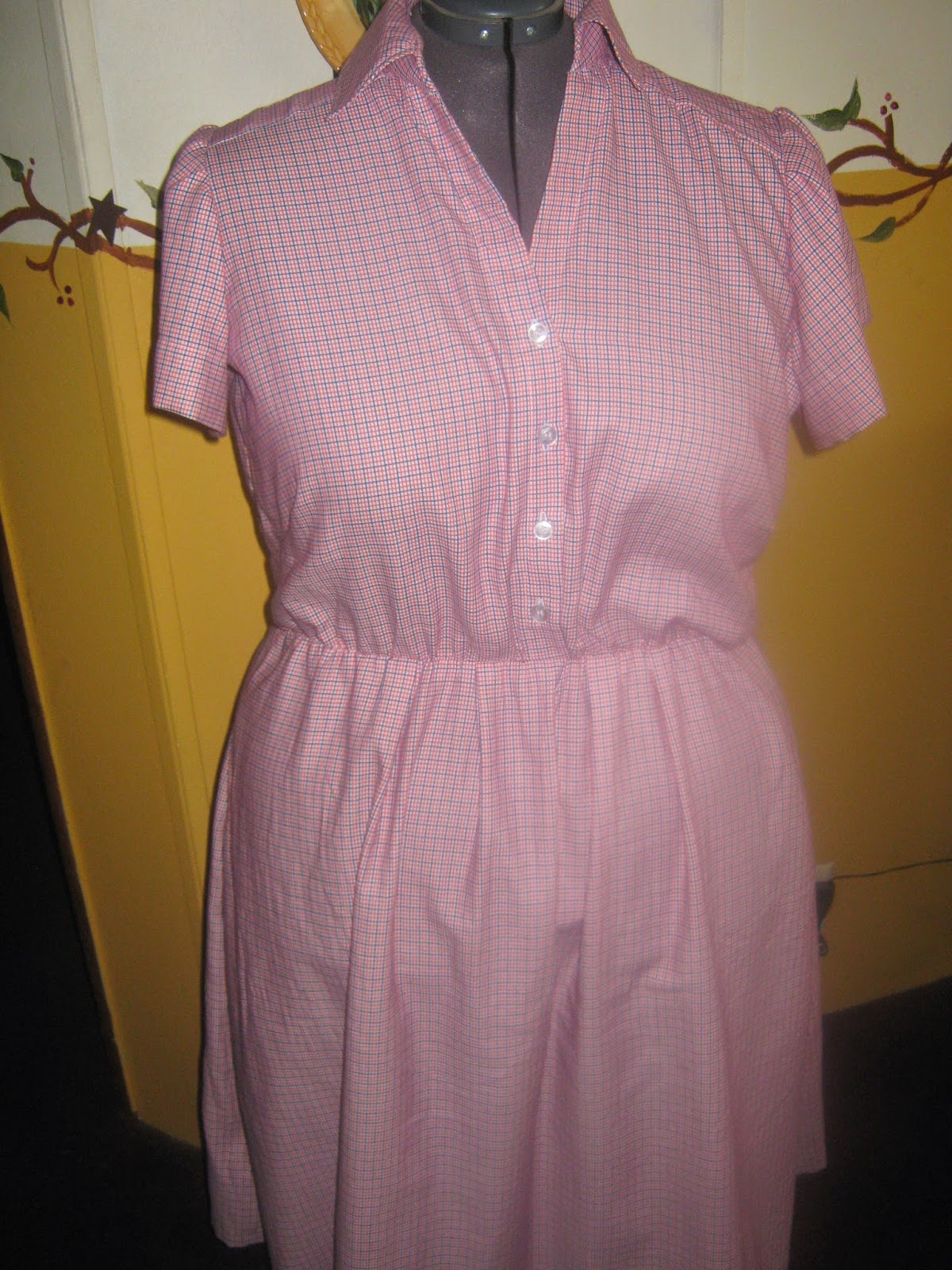 New Look A6180 Shirt dress front view www.sewplus.blogspot.com