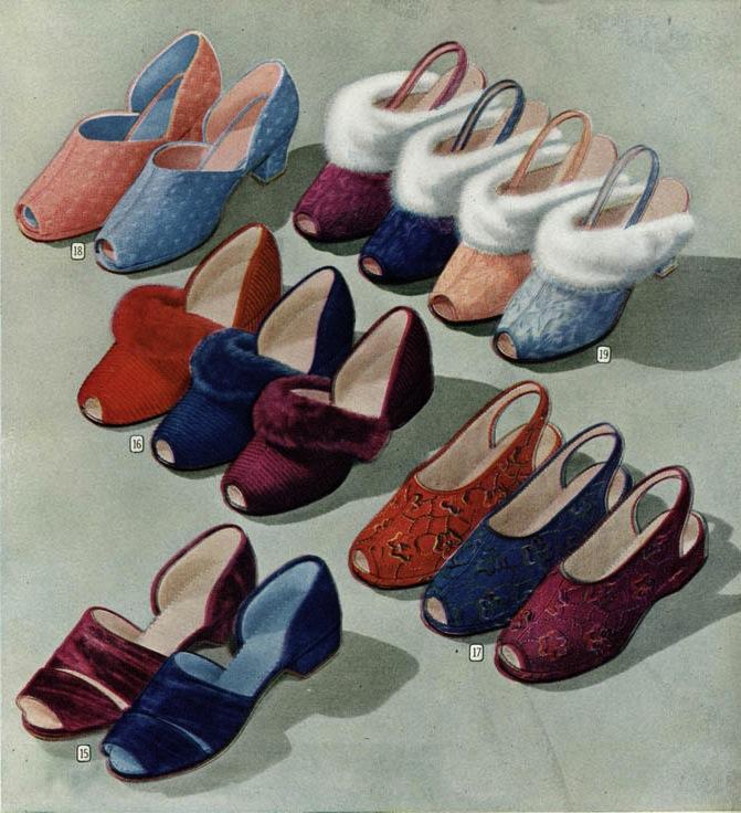Vintage Clothing Love Vintage Slippers