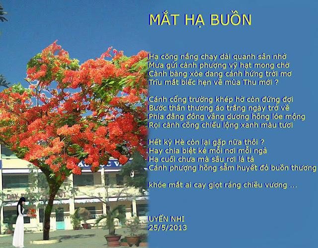 TRANH THƠ - UYENNHI MAT+HA+BUON