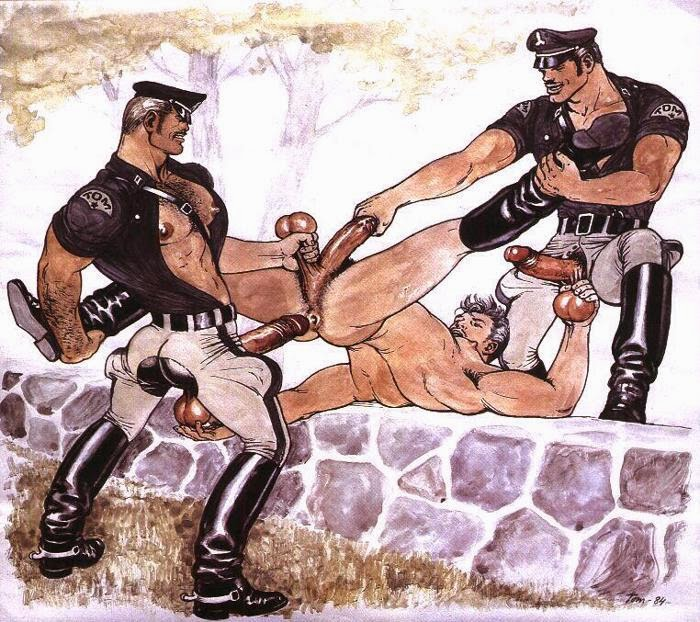 Порно Геи Полицейский