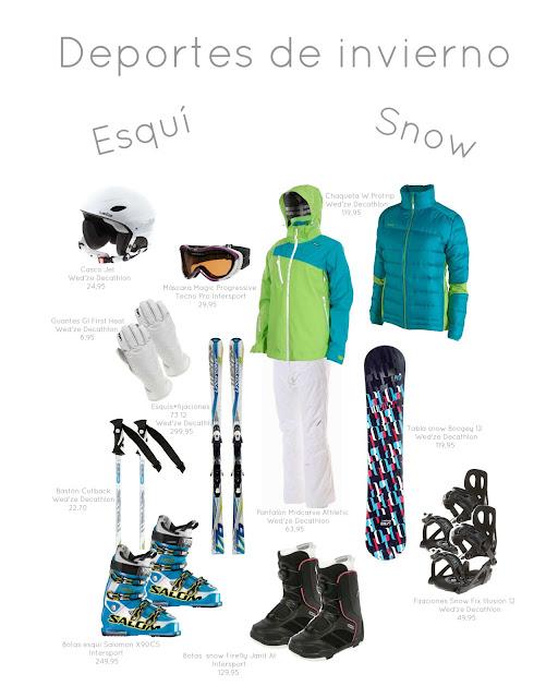 Equipacion Deportes Nieve