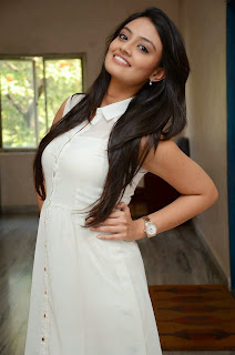 Actress Nikitha Narayan Picture Gallery in White Dress at Ladies and Gentleman Movie Press Meet 13.JPG