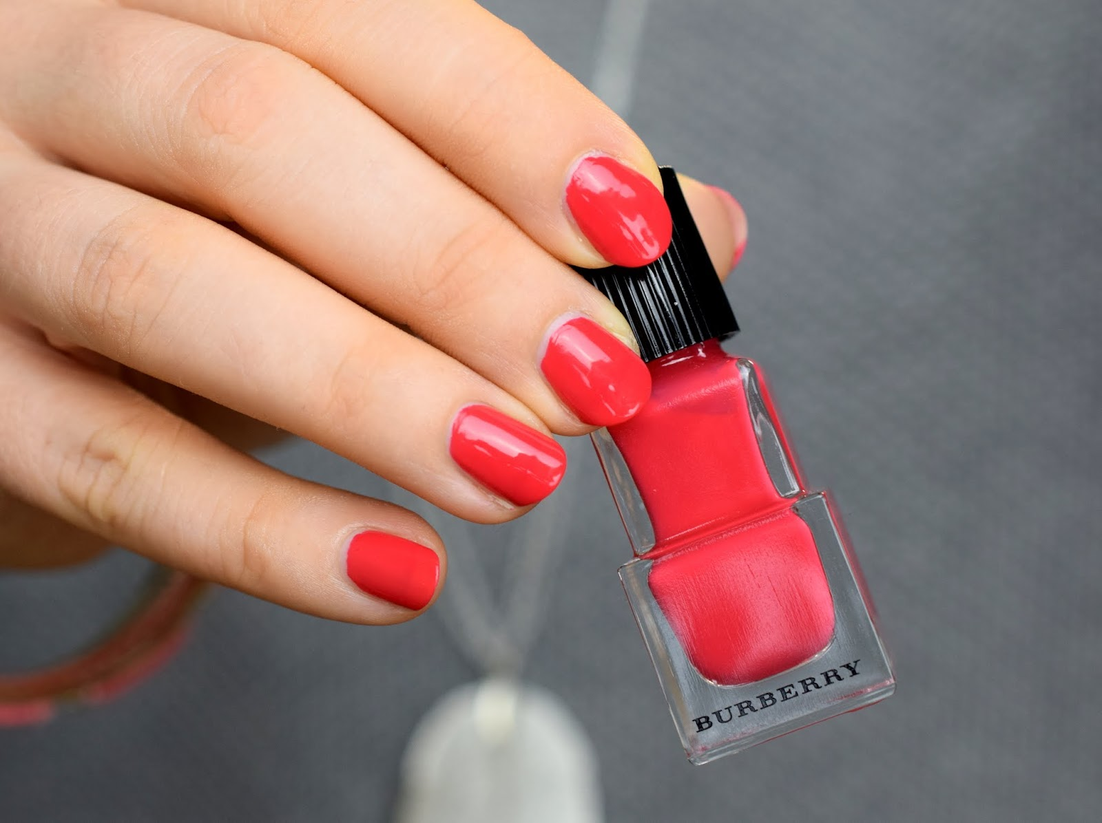 Burberry Spring / Summer 2015 - Nail Polish Bright Coral Red