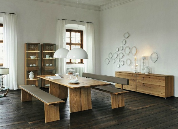 Wooden dining suite