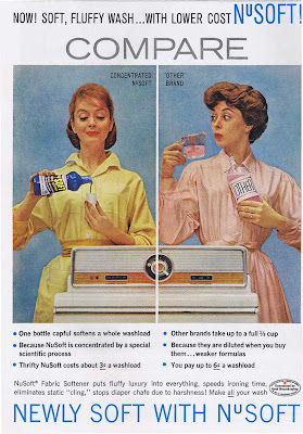 NuSoft Fabric softener ad from 1960.