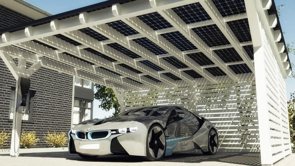 Home Solar Carport System : Wooden carports