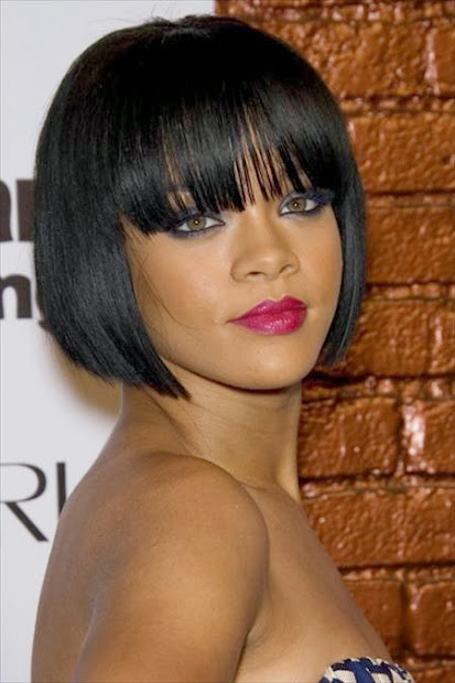 30 Hairstyles For Black Women Razor Cut Bob With Bangs Hairstyles