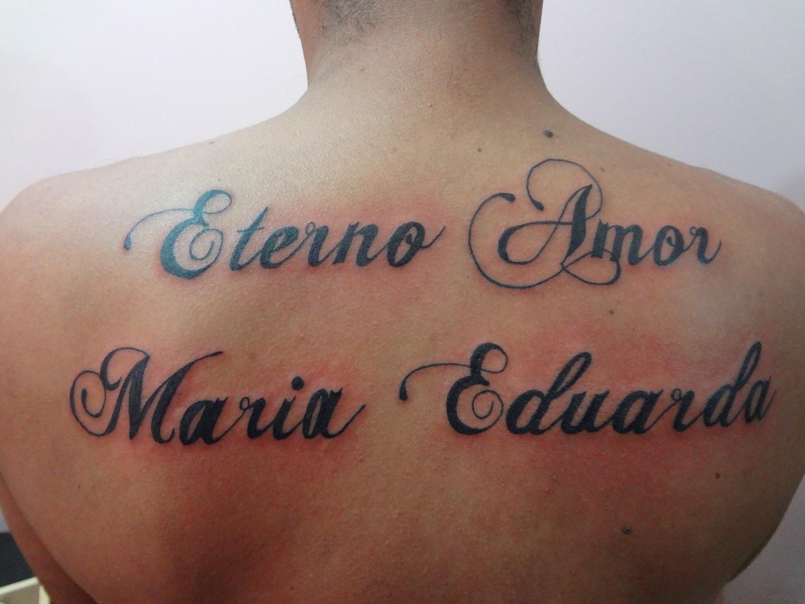 Ink Tattoo Studio Bauru Quot Ink Tattoo Quot Tattoo Eterno Amor Maria Eduarda