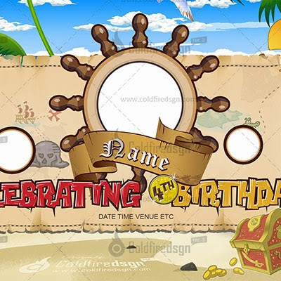 Jake and the Neverland Pirates Birthday Layout ColdFireDsgn – Jake and the Neverland Pirates Birthday Invitation Template