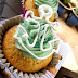 Beach Season: Vanilla Cupcake with Mint Buttercream Icing and a Royal Icing Anchor