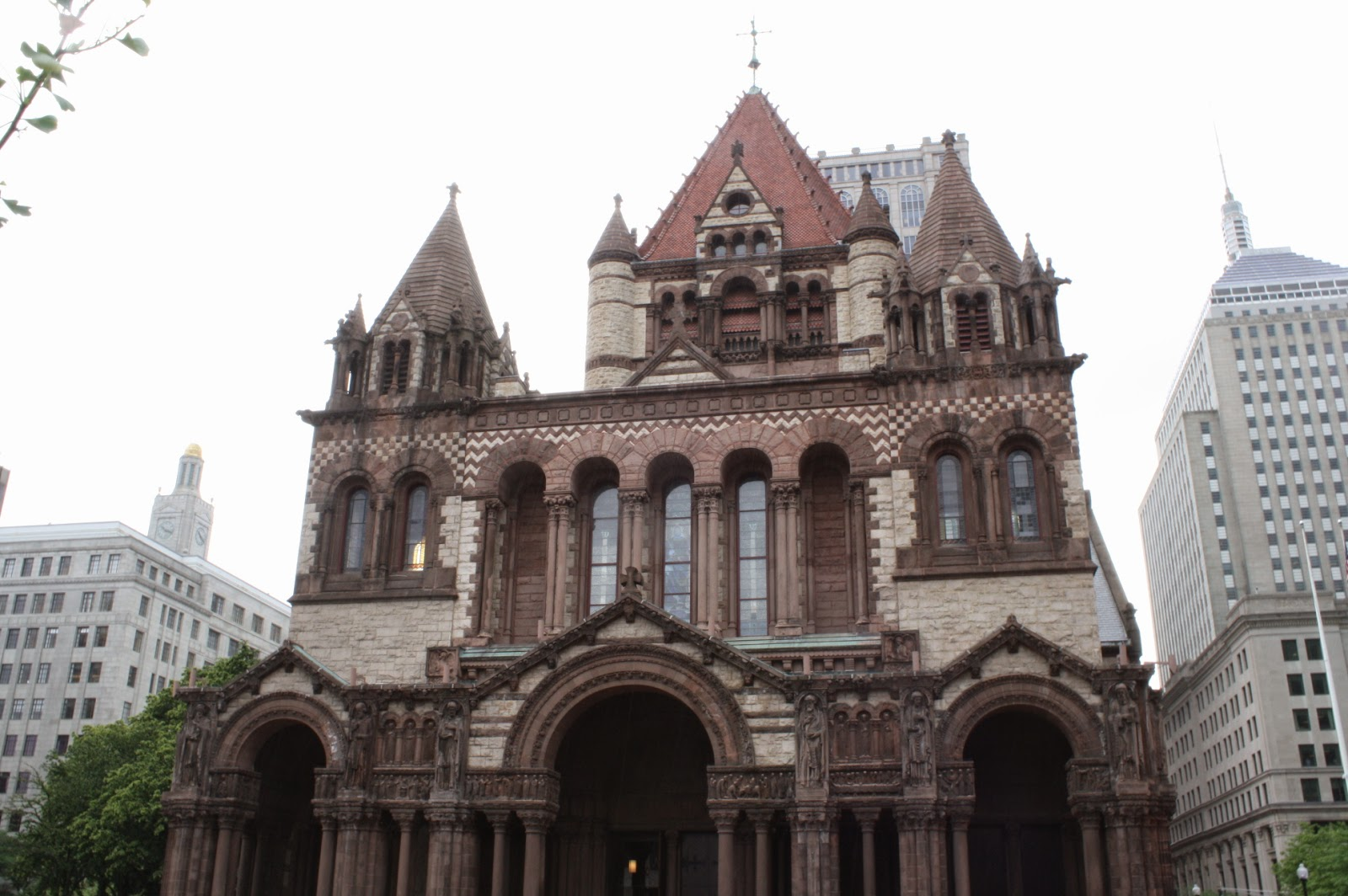 Architecture Trinity Church Of Boston Massachusetts Art For