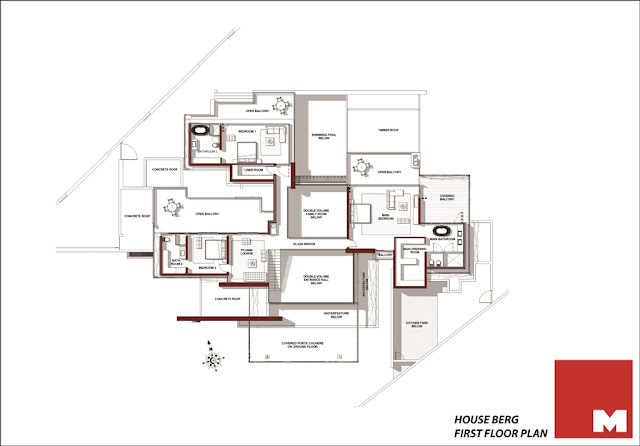 Ber House first floor floor plan