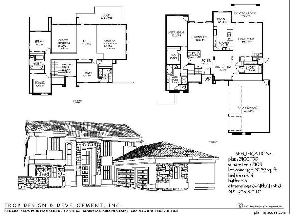 sketsa denah rumah minimalis modern yang populer