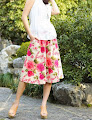 Linen Midi Skirt Pants