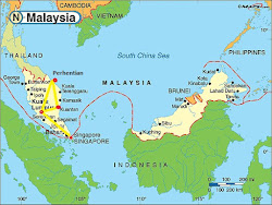 Malaysia Route Map