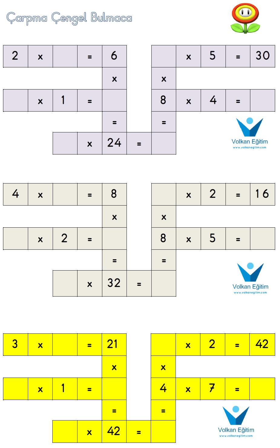 3 Sınıf Matematik Etkinlik Ve çalışma Kağıtları çarpma çengel