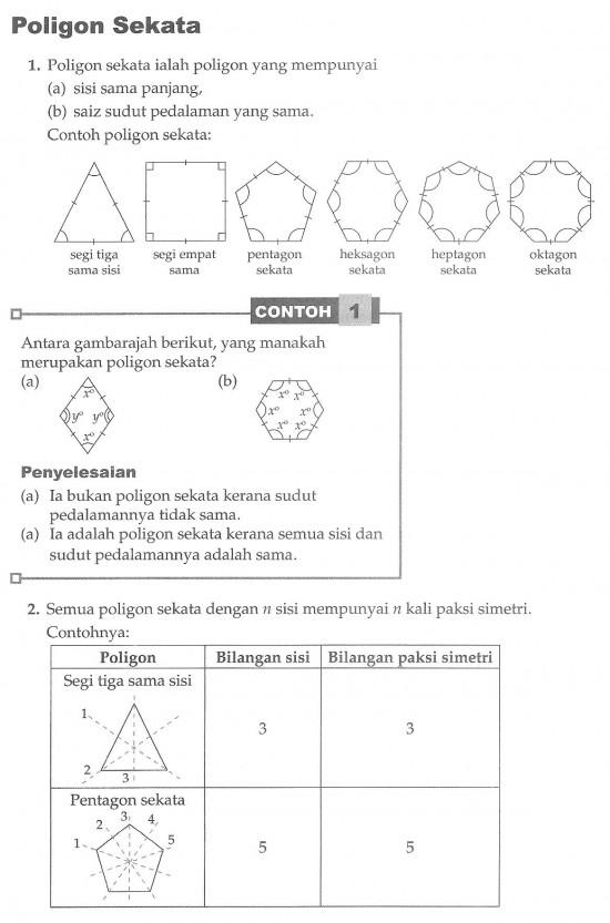 Pembantu Matematik Bab 2 Poligon Ii Latihan Tubi