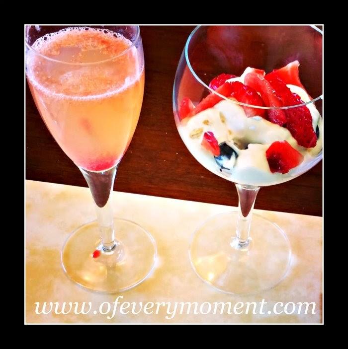 mimosa, yogurt