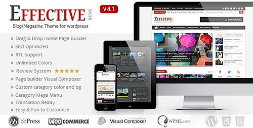 Effective News v5.0.1 Responsive WP Theme Free Download