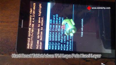 Lupa Pola Kunci Tablet Advan T1J Begini Cara Resetnya
